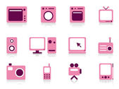 Home appliance objects set. — Stock Vector