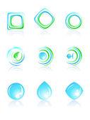 Bio logos set. — Stock Vector