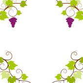 Grape vines frame. — Stock Vector