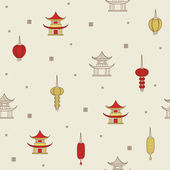 Chinese seamless background. — Stock Vector