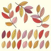 Podzimní listí a větví. — Stock vektor