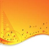 Orange tools background. — Stock Vector