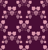 Pink grapevines seamless background. — Stock Vector