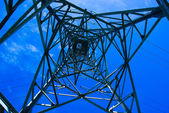 Electric pylon seen by inside — Stock Photo