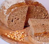 Rye bread close-up — Stock Photo