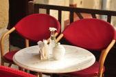 Sabah sokak cafe — Stok fotoğraf