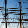 Stock Photo: Masts on fullrigger.