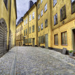 Old Town street with yellow houses. — Stock Photo #10122099