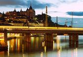 Stockholm city at night. — Stock Photo