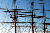 Masts on a fullrigger. — Stock Photo