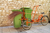 Garbage bike. — Stock Photo