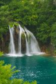 Beautiful waterfall in lush surroundings. — Stock Photo