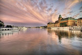 Amazing sky over Stockholm. — Stock Photo