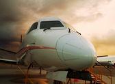 Airplane closeup. — Stock Photo