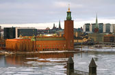 Stockholm City hall in afternoon sun. — Stock Photo