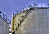 Fuel storage tanks. — Stock Photo