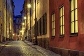 Stare miasto oświetlenie. — Zdjęcie stockowe