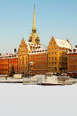 Stockholm Old Town in winter. — Stock Photo
