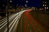 City traffic at night. — Stock Photo