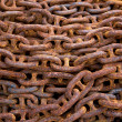 Stock Photo: Old rusty chain.