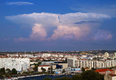 Towering cumulus clouds. — Stock Photo
