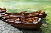 Wooden rowboats. — Stockfoto