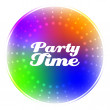 Colorful Party label vector background — Stock Vector