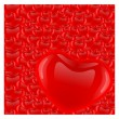 Royalty-Free Stock Vector Image: Red hearth Valentine day vector background