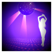Royalty-Free Stock Vector Image: Disco Violet Background