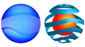 Sphere logotype vector — Stock Vector