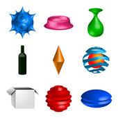 Sommige 3d-objecten — Stockvector