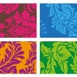 Stock Vector: Colorful Vector Ornament Background set