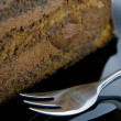 Chocolate cake closeup — Stock Photo