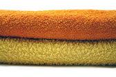 Yellow and orange towel — Stock Photo