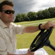 Golf cart driver — Stock Photo #9860134
