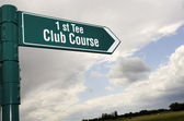 Golf sign — Stock Photo