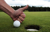 Golf hole — Stock Photo