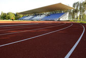 Athletics stadium — Stock Photo