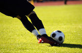 Soccer kick — Stock Photo