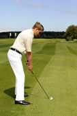Golf player — Stock Photo