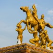 Golden thai god sculpture - Stock Photo