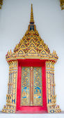 Beautiful thai temple window in thailand — Foto Stock