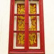 Thai style window — Stock Photo