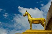 Horse protect pagoda — Stock Photo
