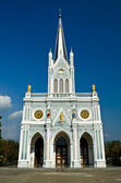 White church, Samut Songkhram, thailand — Stock Photo
