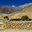 Stonewall in nepal rural — Stock Photo