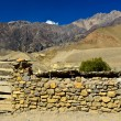 Stonewall in nepal rural — Stock Photo #9834899