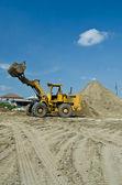 One Loader excavator — Stock Photo