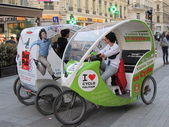 Eco-Taxi in Lyon — Stock Photo