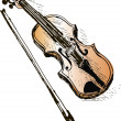 Royalty-Free Stock 矢量图片: Violin sketch